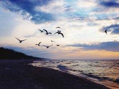 miejscowość wypoczynkowa Ustka - widok plaży